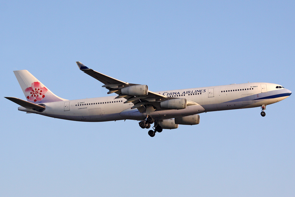 China Airlines Airbus A340-313X in Frankfurt am 25,04,10
