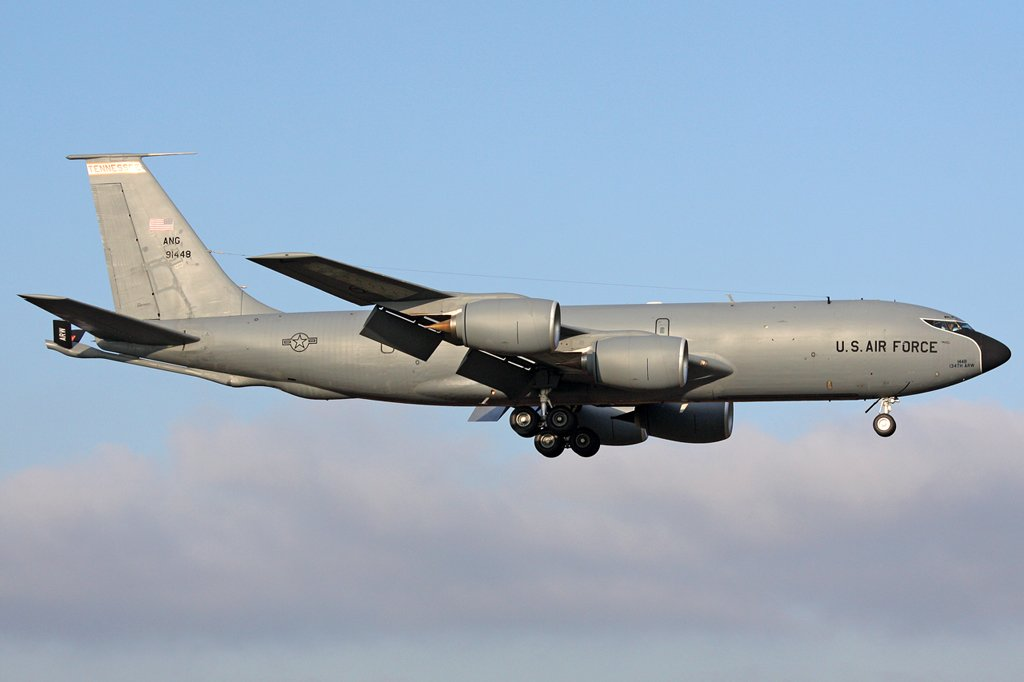 US-Airforce Boeing KC 135R, 59-1448, 134th ARW Tennessee, in Geilenkirchen , am 14,12,09