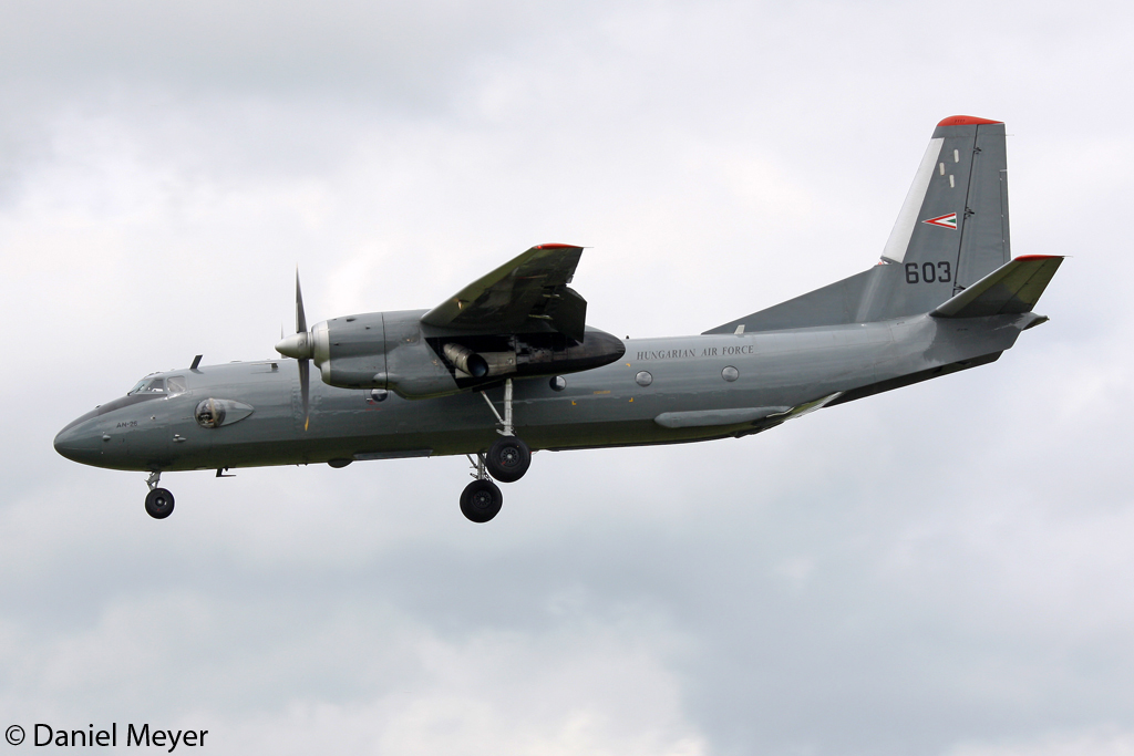 Hungary - Air Force Antonov An-26 603 in Geilenkirchen am 15.06.2012