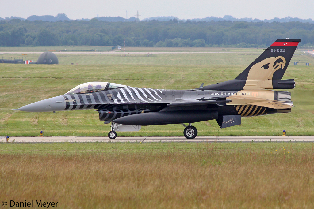 Turkey - Air Force General Dynamics F-16C Fighting Falcon 91-0011 in Geilenkirchen am 15.06.2012
